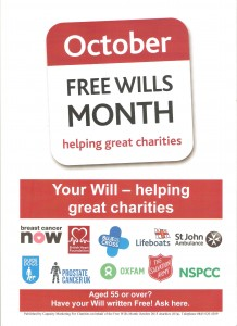 Make A Will Month 2015